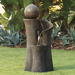 Outdoor Water Fountains Option: John Timberland Modern Sphere Zen Outdoor Floor Water Fountain 39