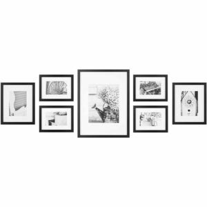 The Best Photo Gifts Option: Gallery Perfect 7 Piece Black Wall Frame Set