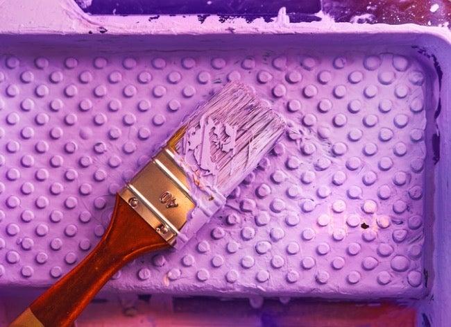 purple fence meaning purple paint