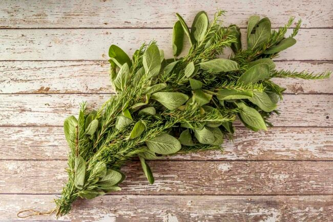 Home decor ideas -- Rosemary and sage garland