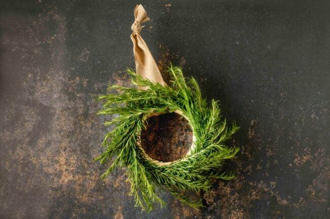 Home decor ideas -- Rosemary Wreath