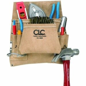 The Best Gifts for Woodworkers Option: CLC Custom Suede Carpenter's Nail And Tool Bag