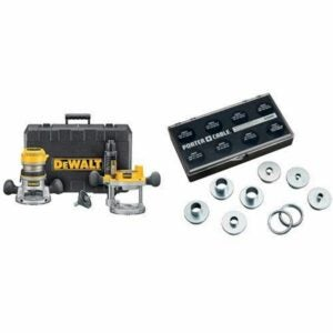 The Best Gifts for Woodworkers Option: DEWALT Fixed Base Plunge Router Combo Kit