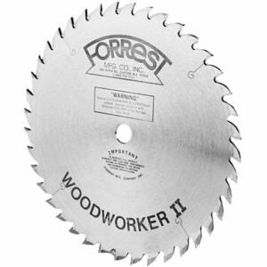 The Best Miter Saw Blade Option: Forrest WW12487125A Woodworker II 12-Inch 48 Tooth