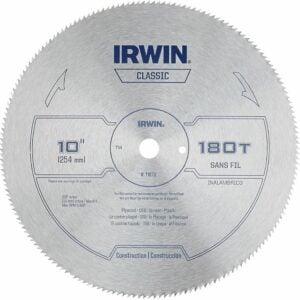 The Best Miter Saw Blade Option: IRWIN 10-Inch Miter Saw Blade, Classic Series, Steel