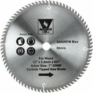 "The Best Miter Saw Blade Option: NEIKO 10768A 12"" Carbide Saw Blade   80 Tooth"