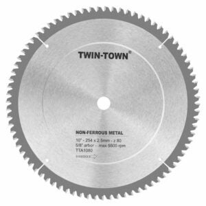 The Best Miter Saw Blade Option: TWIN-TOWN 10-Inch 80 Tooth TCG Aluminum and Non