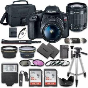 The Best Amazon Black Friday Option: Canon EOS Rebel T7 DSLR Camera Bundle