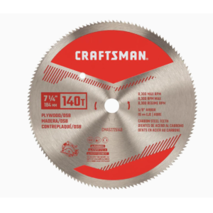 Best Circular Saw Blade Options: CRAFTSMAN 7-1-4-in 140-Tooth Carbon