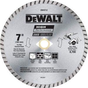 Best Circular Saw Blade Option: DEWALT Diamond Blade for Block and Brick, Dry/Wet