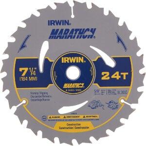 Best Circular Saw Blade Option: IRWIN Tools MARATHON Carbide Circular Saw Blade