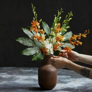 The Best Housewarming Gifts Option: Fresh Orchid Bouquet