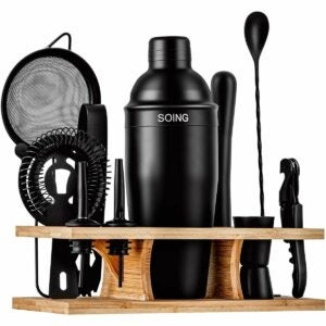 The Best Housewarming Gifts Option: Soing 11-Piece Rose Copper Bartender Kit