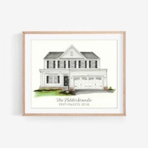 The Best Housewarming Gifts Option: elliedawndesigns Custom House Drawing