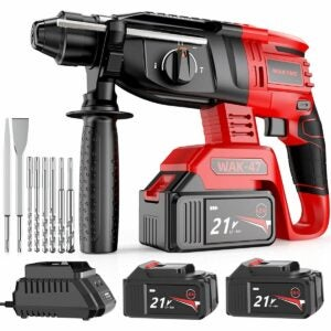 The Best Rotary Hammer Drill Option: WAKYME Rotary Hammer Drill, 1/2 inch 21V Cordless