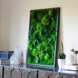The Best Gifts for Plant Lovers Option: ArtBotanicaMoss Preserved Moss Art Framed