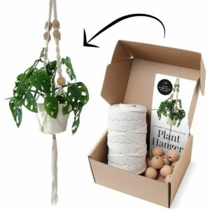 The Best Gifts for Plant Lovers Option: Stillness Crafts Store Macrame Kits for Plant Hanger