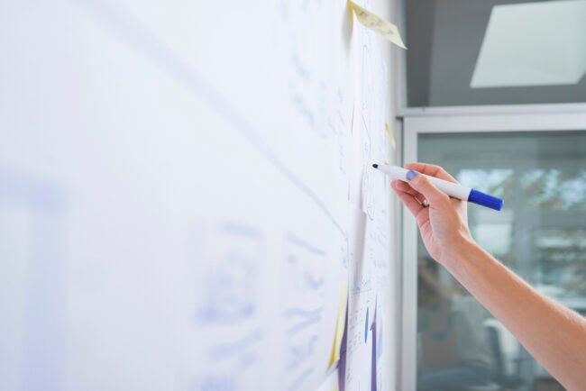 how to clean a dry erase board