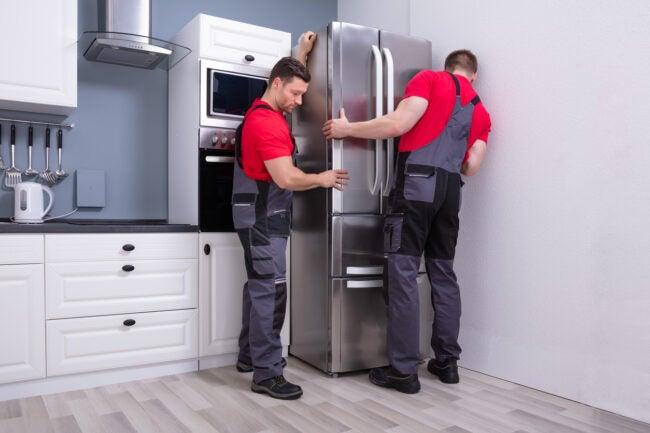 standard refrigerator size