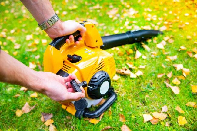 leaf blower won't start