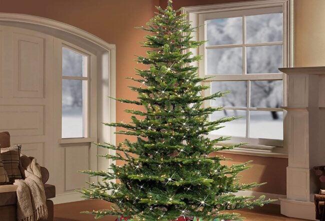 Best Artificial Christmas Option: Trees_Puleo International 7.5 Foot Aspen Fir Christmas Tree