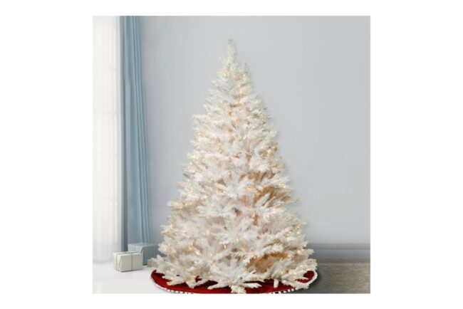 Best Artificial Christmas Trees Option: National Tree Company 7.5 ft. Winchester White Pine