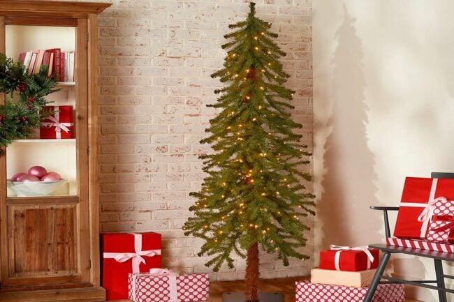 Best Artificial Christmas Trees Option_ National Tree Company Artificial Hickory Cedar Slim