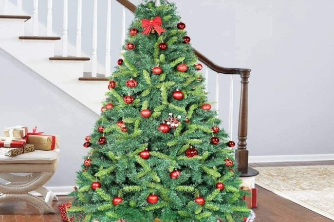 Best Artificial Christmas Trees Option: OurWarm 7.5ft Artificial Christmas Tree Unlit