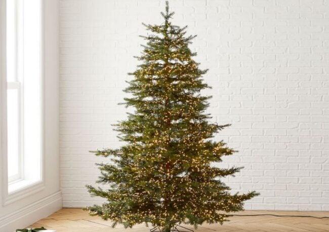 Best Artificial Christmas Tree Option: West Elm Monaco Pine Tree