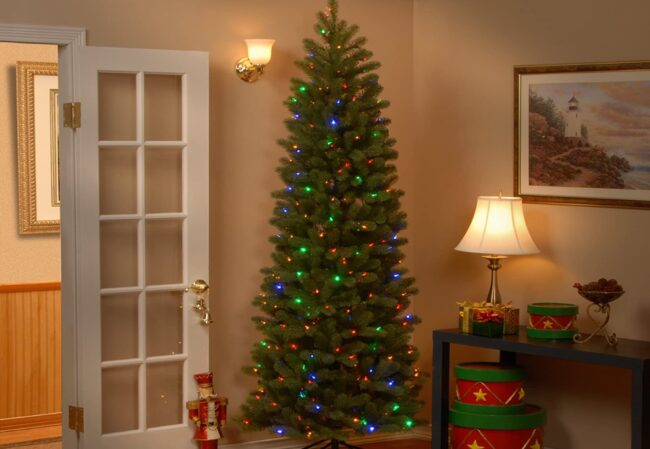 Best Artificial Christmas Option: Trees_National Tree Company 7.5 ft. Pencil Slim Fir