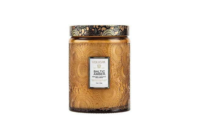 The Best Christmas Candle Option: Voluspa Baltic Amber Large Jar Candle