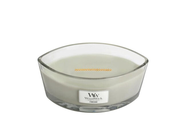 The Best Christmas Candle Option: WoodWick Large Fireside Candle