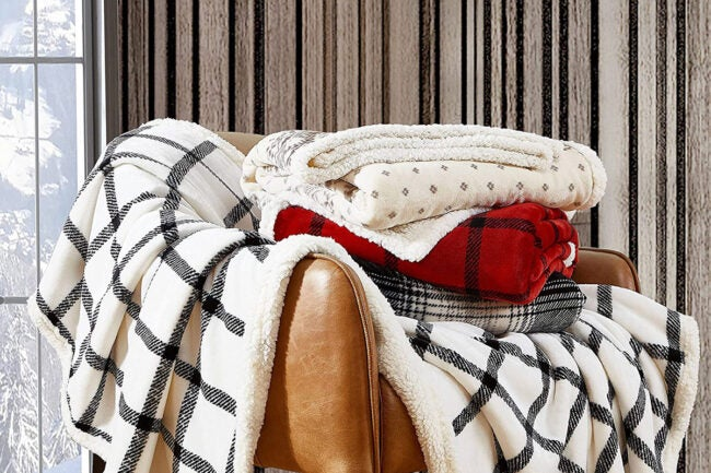 The Best Christmas Decoration Option: Eddie Bauer Home Ultra-Plush Collection Throw Blanket