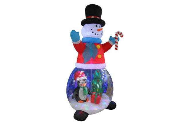 The Best Christmas Decoration Option: Hashtag Home Snowman Globe with Penguins Inflatable