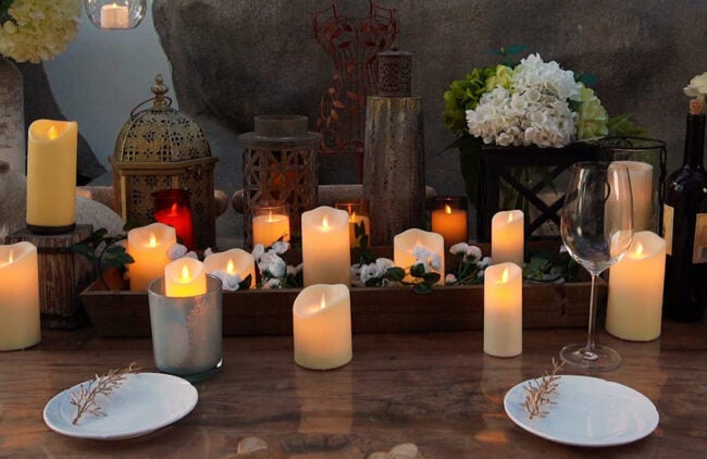 The Best Christmas Decoration Option: Homemory 6 x 3.25 Outdoor Waterproof Flameless Candles