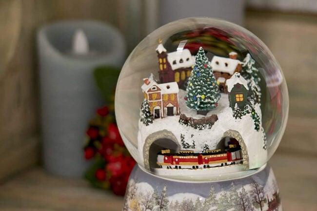 The Best Christmas Decoration Option: Roman Store Winter Scene Glitterdome