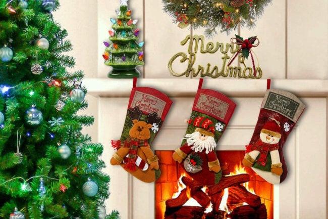 The Best Christmas Decoration Option: Sunnyglade 3PCS Christmas Stocking