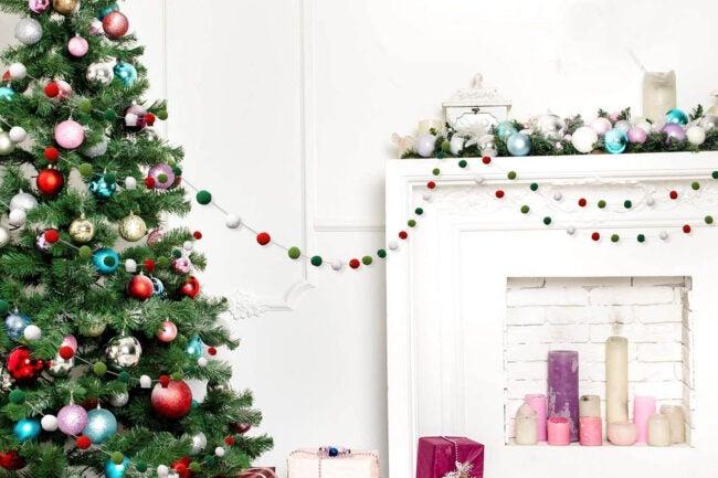 The Best Christmas Garland Option: Boao Felt Ball Garland