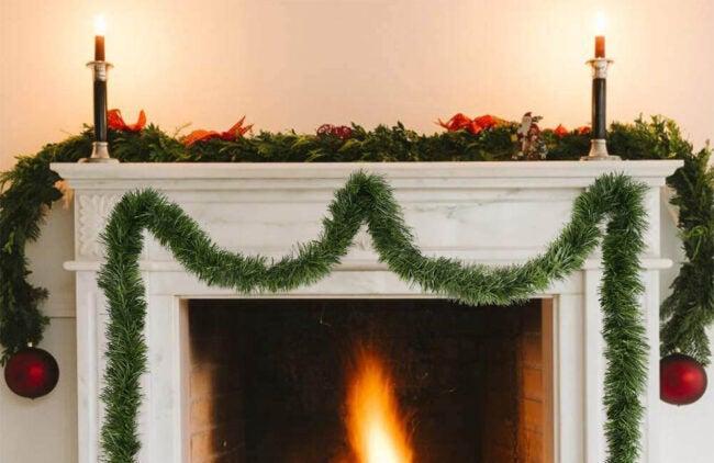 The Best Christmas Garland Option: CCINEE Artificial Christmas Pine Decorative Garland