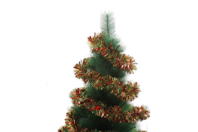 The Best Christmas Garland Option: DECORA 33 Feet Tinsel Garland