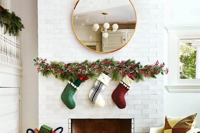 The Best Christmas Garland Option: DearHouse Red Berry Christmas Garland