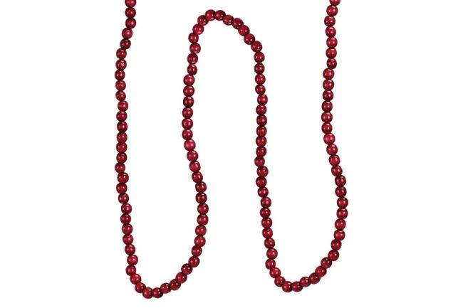 The Best Christmas Garland Option: Kurt Adler Red Wooden Cranberry Garland