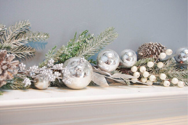 The Best Christmas Garland Option: The Holiday Aisle 6' Christmas Ornament Pine Garland