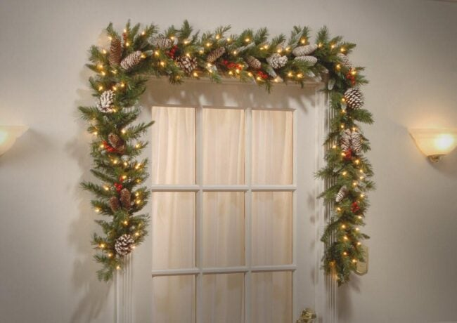 The Best Christmas Garland Option: Three Posts Frosted Berry Pre-Lit Garland
