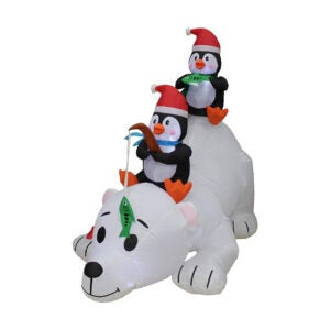 The Best Christmas Inflatables Option: BZB Goods Christmas Inflatable Penguins Fishing