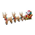 The Best Christmas Inflatables Option: BZB Goods Christmas Inflatable Santa Claus on Sleigh