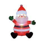 The Best Christmas Inflatables Option: GOOSH Christmas Inflatable Sitting Santa Claus