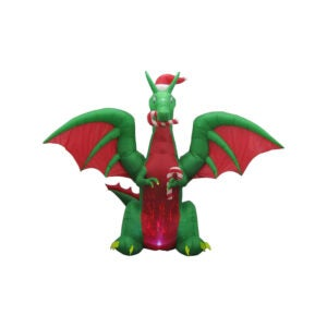 The Best Christmas Inflatables Option: Home Accents Holiday LED Animated Christmas Dragon