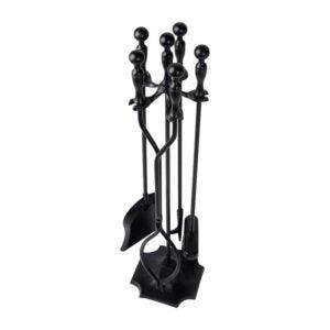 The Best Fireplace Tools Option: Amagabeli 5 Pcs Fireplace Tools Sets Black Handle