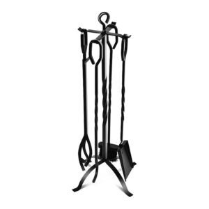 The Best Fireplace Tools Option: COMFYHOME 5-Piece Fireplace Tools Set 31, Heavy Duty